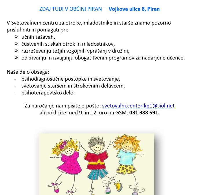 Svetovalni center za otroke, mladostnike in starše Koper